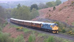 Class 26 038 'Tom Clift' southbound at Water Ark [NYMR] (soberhill) Tags: diesel 26 class pickering grosmont nymr 2016 26038 waterark scottishbranchlinegala