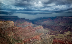 Grand Canyon Thunderstorm (Explored) (Thilo S.) Tags: arizona sky usa weather clouds landscape us grandcanyon flash dramatic wolken thunderstorm lightning blitz grandcanyonvillage