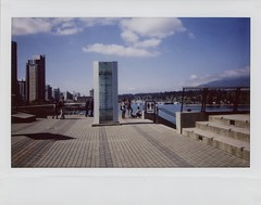 Instant People, Instant Clouds (edwardconde) Tags: vacation vancouver britishcolumbia instantphotography ipad travelphotography vancouverconventioncenter instaxwide photogene explorebc fujifilminstax210 editedontheipad edwardconde73 photographersontumblr