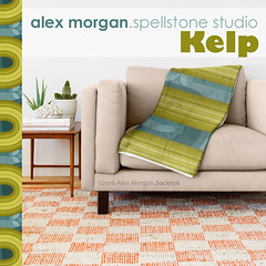 Kelp.throw blanket (Spellstone) Tags: ocean sea wallpaper seaweed clock home modern illustration design artist folkart pattern forrest drawing linen craft towel spot surfacedesign textile fabric cotton kelp blanket mug rug environment decal reef tote duvet throw giftwrap totebag 2016 bedset duvetcover fabricdesign alexmorgan spoonflower spellstone society6 fabriccollections