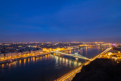 Budapest at blue hour (Vagelis Pikoulas) Tags: city blue winter canon river landscape europe hungary cityscape budapest january tokina hour 6d 2016 dunave