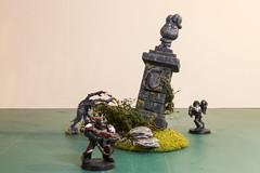 Statue for Warhammer Fantasy Battle (Anxious Silence) Tags: fantasy genestealer miniature model modelmaking ruin scenery spacemarine statue wargaming warhammer