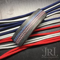 Happy Flag Day!  a little something I'm working on for today and the 4th of July.  #jenniferrayjewelry #jrj #carbonfiber #carbonfibre #flagday #merica #americanflag #patriot #patriotic #starsandstripes #jewelrygram #mensfashion #menwith (JenniferRay.com) Tags: ray jennifer jewelry carbon custom fiber exclusive paracord jrj instagram