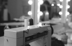 Sewing machine (Federico Pitto) Tags: bw theatre d76 hp5 nikonfe2 nikkor50mm18
