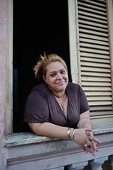 (adammcdonald3) Tags: travel portrait woman window beautiful beauty smile happy framed cuba streetportrait jewellery trinidad cuban travelphotography travelportrait