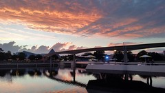 20151001_192116 (Passport to the Parks) Tags: sunset epcot dusk monorail