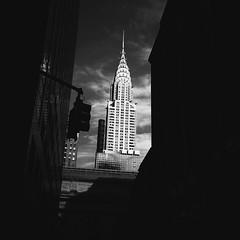 Laugh Now, Chry Later (lozadae12) Tags: newyorkcity blackandwhite newyork architecture monochromatic chryslerbuilding
