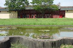 Lily pond and cloisters, Imperial City, Hue (judithbluepool) Tags: gardens vietnam hue cloisters lilypond imperialcity