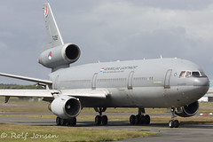 T-235 Royal Dutch Airforce McDonnell Douglas KDC-10-30 Prestwick airport EGPK 02.07-16 (rjonsen) Tags: plane airplane airport glasgow aircraft airforce douglas prestwick trijet egpk