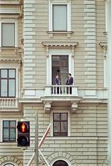 Vienna (Basileia Gorgo) Tags: sterreich austria vienna wien building gebude ampel trafficlight balkon balcony mensch people portrait anzug suit canon eos550d dslr architektur architecture street tamron70300mm