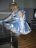 CIMG6794 (sissybarbie1066) Tags: baby satin sissy maid uniform blue cleaning glass coffee table with vinegar water