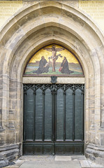 Castle Church, Thesis Door (dietmar-schwanitz) Tags: wittenberg schlosskirche castlechurch thesentür thesisdoor sachsenanhalt germany deutschland martinluther nikond750 nikonafsnikkor24120mmf40ged lightroom dietmarschwanitz