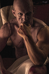 Frankenstein (tim_asato) Tags: portrait man hot sexy male men jock pecs monster sex nude model muscle retrato makeup hunk modelo trunk biceps guapo abs stud scars hombre bold bicep beautifull monstruo desnudo maquillaje masculino musculo cicatrices handosme beautifulmag timasato lorealonso evgenykhorin