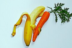 Take my hand, I'll teach you to dance... (natus.) Tags: banana carrot fruit yellowred whitebackground food httpwwwimagekindcomartistsdonatus stilllife