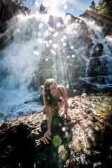 20160625-Sun Falls --3 (napaeye) Tags: lake tahoe napaeye laketahoe waterfalls fallenleaflake lillylake california ca women hairflip