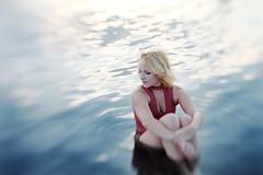 Greta (nne) Tags: girl woman portrait kraemer krmer annekrmer sea water waves beauty light warm blonde pretty skin blue lens lensbaby canon face beautiful love lovely warmlight sunset sunshine sun body