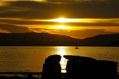 Sunset moment (C. Alice) Tags: water clouds summer sea seashore 2016 hongkong ilce6000 sony a6000 sonya6000 sonysel1670zcarlzeissvariotessart tessar zeiss carlzeiss beach sunset orange beautifulearth astoundingimage favorites50 1500v60f 2000views