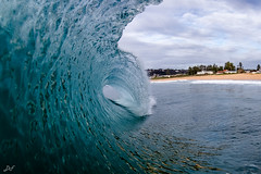 Arching (David Field (Sydney)) Tags: arch arching clean perfect clouds blue water wave fisheye heavy tube power barrel surf beach newsouthwales sydney australia aquatech northernbeaches seascape canon nature sport winter amazing awesome