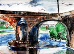 Nevers, la Loire (Frdric Glorieux) Tags: watercolor aquarelle frdricglorieux france nevers usk uskfr