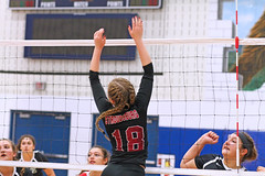 IMG_9580 (SJH Foto) Tags: girls volleyball high school stroudsburg pa pennsylvania team tween teen teenager varsity net battle spike block action shot jump midair