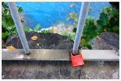 Love Lock, Cinque Terra, Itlay (Sarah Patel) Tags: travel locks colors cinque terra hicking canon mediterranean sea