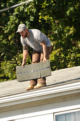 08 BEAR on the ROOF! (Violentz) Tags: male guy man roofer roof bear bearded hairy tattooed house home patricklentzphotography