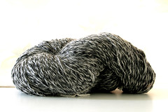 Black and White (LianaB.) Tags: lana lanafilataamano lanamerinos bianco nero alpaca grigio ghiaccio handspun handmade handspunyarn