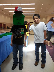 WC MMFaire Human Minecraft with Friend (Sastrei87) Tags: lego minecraft makerfaire maker