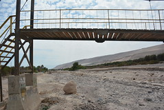 dry riverbed with pedestrian bridge (cam17) Tags: arica chile aricachile atacamadesert atacama dryriverbed pedestrianbridge