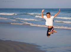 Joy. (elena.lenevenko) Tags: ocean boy summer fun evening jump waves joy pleasure