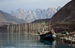 Calmness (Ahsan Riaz Chaudhary) Tags: blue pakistan lake mountains water landscape nikon colours hunza riaz ahsan chaudhary gojal concordians coloursofpakistan d5100 gilgitbaltistan hunzanagar attaabad attaabadlake