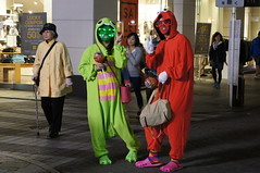 Happy Halloween (kana hata) Tags: street people monster japan night costume yokohama motomachi