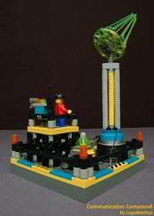 04_Communication_Compound (LegoMathijs) Tags: 2 rock compound energy dish lego crystal space communication scifi radar raiders miners moc studless legomathijs