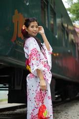 DSC09213 (rickytanghkg) Tags: portrait beautiful beauty female train asian japanese model outdoor sony chinese railway hong kong belle a7r