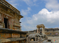"A GLIMPSE OF THE FORGOTTEN PAST"" (GOPAN G. NAIR [ GOPS Photography ]) Tags: india tourism temple photography karnataka halebid belur halebidu hoysala gops gopan gopsorg gopangnair gopsphotography"
