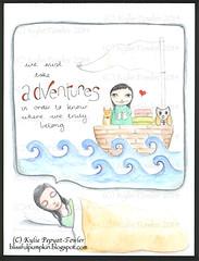 Adventure Bound - Kylie Fowler (Kylie Fowler AKA: Blissful Pumpkin) Tags: portraits watercolor bigeyes artwork mixedmedia watercolour whimsical howtodraw whimsicalmixedmediaart kyliefowler kyliepepyatfowler blissfulpumpkin kyliefowlercom howtopaintbigeyedgirlskyliepepyatkyliepepyatfowler