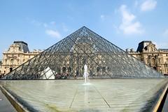 The Pyramid (YuriZhuck) Tags: paris france fountain glass architecture europe pyramid louvre landmark