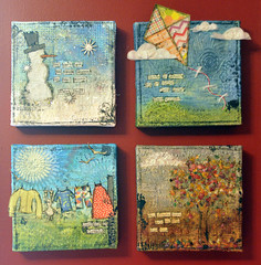 year of canvas (Sarathings) Tags: mixedmedia canvas homedecor thepaperie