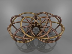Hyperboloid Inversion (fdecomite) Tags: circle sphere math inversion povray