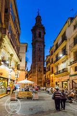 Valencia 2014 (10) 100 - Night time streetlife (Mark Schofield @ JB Schofield) Tags: old city people valencia evening twiligh