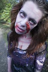 Cambridge zombie (nearthecoast.com) Tags: cambridge woman female evacuation zombie torn frock posh contagion bloodstained