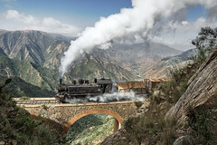Climbing to Devil's Gate (Kingmoor Klickr) Tags: eritrea eritrearailway mallet 44255 devilsgate arbaroba asmara italian steam locomotive africa ansaldo 1365 shegerini gauge narrow railway eritrean