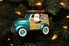 Santa's Surfin Safari (BarryFackler) Tags: santa christmas holiday tree home lights hawaii polynesia surf decoration woody surfing christmastree christmaslights ornament yule vehicle santaclaus stnicholas christmasdecoration bigisland surfboards christmasornament kona whimsical captaincook hallmark beachboys stnick 2014 surfinsafari hawaiicounty southkona hawaiiisland westhawaii hallmarkkeepsakeornament hallmarkornament cookslanding captaincookhi musicalornament barryfackler barronfackler surfinsafarisanta