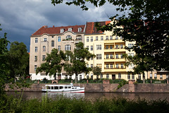Cruise on the Spree_7535 (hkoons) Tags: city cruise houses house color berlin art home architecture buildings germany boats design living boat town community europe ship capital structures craft vessel rope tourist structure line hues german commercial anchor residence population multicolored tours habitat twostory spree residential mitte tenement vessels multistory abode residences architecturaldesign touristboat spreeriver northerneuropeanplain