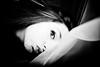 Fusion (Christine Lebrasseur) Tags: portrait people blackandwhite woman france art canon veil hidden teenager fr onblack gironde léane saintloubes allrightsreservedchristinelebrasseur