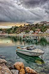 (The Algerian) Tags: africa sea reflection texture beach water architecture clouds photography algeria boat high day ship dynamic cloudy great arab algerie range hdr taya algiers ain alger amazigh serkouf