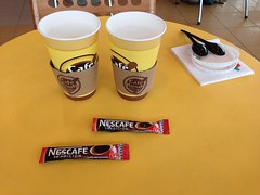 Café latte au Chili, avec du Nestcafe instant