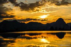 Golden Sunset (spastman1) Tags: sunset sky sun lake mountains alps reflection landscape austria golden dusk samsung ort nx hinterstoder hss nx300