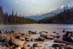 """Lake downstream of Athabasca Falls • <a style=""""font-size:0.8em;"""" href=""""http://www.flickr.com/photos/92159645@N05/16048968609/"""" target=""""_blank"""">View on Flickr</a>"""