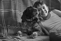 Amici per la pelle - Friends for life (andreavarzi) Tags: friends people bw dog love animal cane portraits brother daisy leonardo fratello nikonclubit
